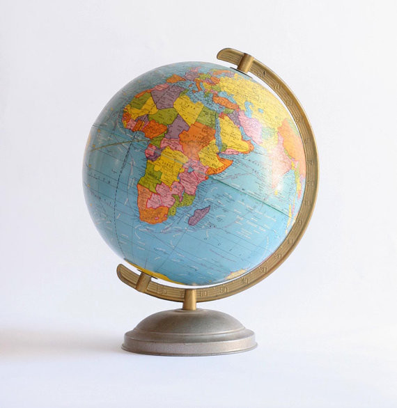 1940s Vintage Globe by Dingaling Vintage - Traditional - Home Decor - by Etsy