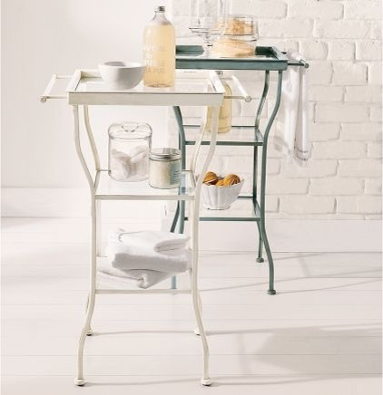 Painted Metal Accent Table, Large contemporary-side-tables-and-end-tables