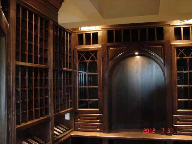 Gothic Wine Room storage-and-organization