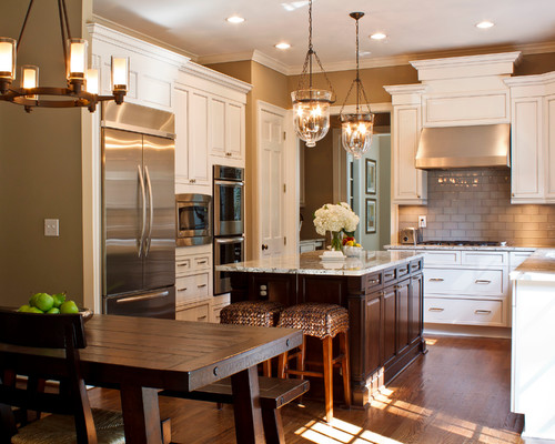traditional kitchen 25 Glamorous Gray Kitchens