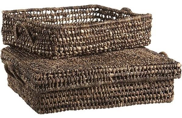 Barika Large Low Storage Totes modern-baskets