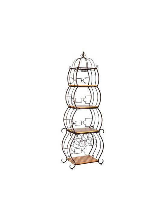 Pagoda Wine Storage Etagere -