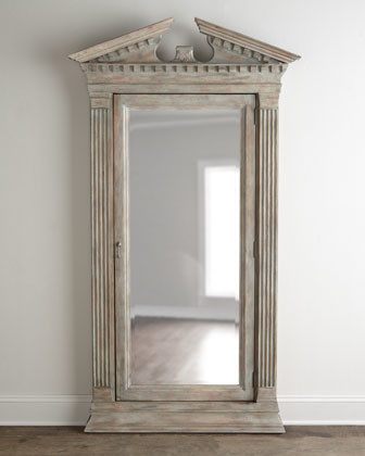 Cavalier Storage Floor Mirror - Traditional - Mirrors - by Horchow