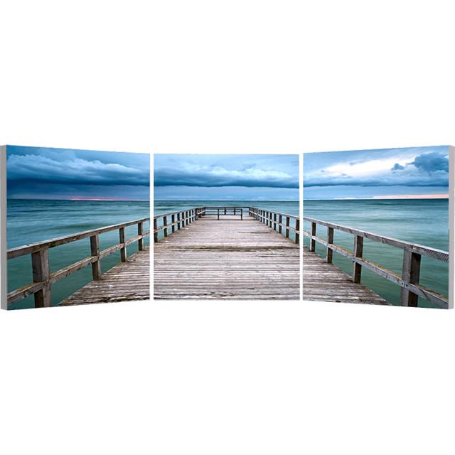 Elementem Photography Baltic Sunset Triptych Wall Art contemporary-artwork