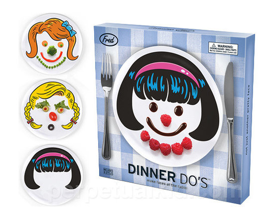 Dinner Do's Girl Plates, Set of 3 -