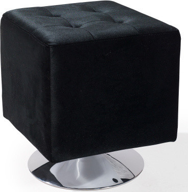 Pica Square Ottoman in Black modern-footstools-and-ottomans