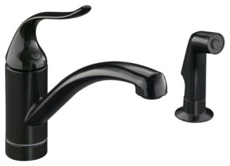 KOHLER K-15076-P-7 Coralais Decorator Kitchen Sink Faucet with Matching Finish S traditional-kitchen-faucets
