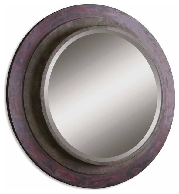 www.essentialsinside.com: bolzano round wall mirror contemporary-mirrors
