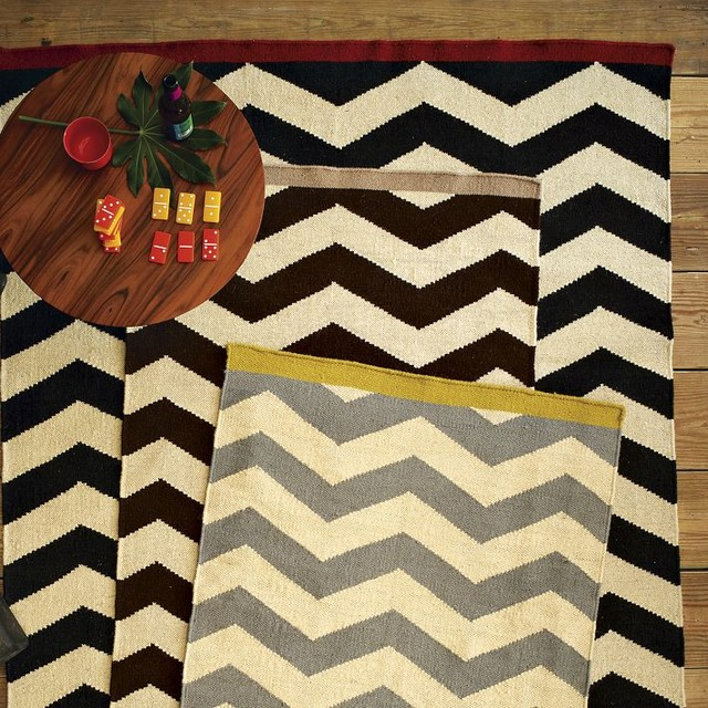 Chevron Kitchen Rug: Contemporary