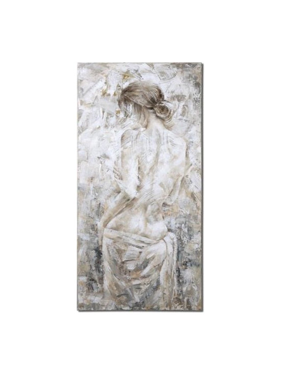 Uttermost Examination - Frameless, hand painted artwork on canvas. Canvas is stretched and mounted to wooden stretching bars. Due to the handcrafted nature of this artwork, each piece may have subtle differences