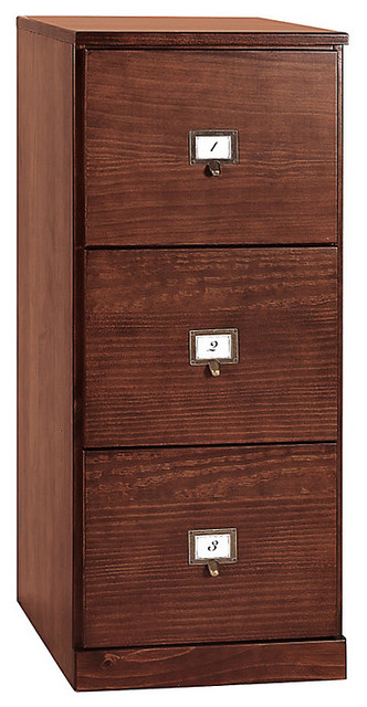 Original Home Office Tall 3-Drawer File Cabinet - Tuscan Brown - Traditional - Filing Cabinets ...