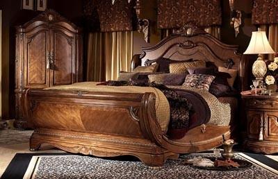 AICO Furniture Cortina California King Sleigh Bed 65016N 28 3pc Bedroom