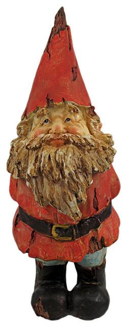 Gimme A Kiss Wooden Look Garden Gnome Statue