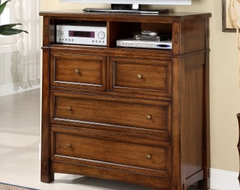 Riverside Craftsman Home Media Chest traditional-media-storage