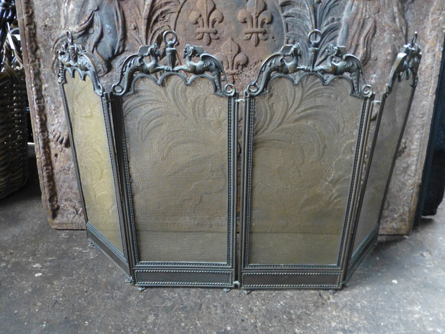 antique french fireplace screen traditional fireplace screens other metro by antique. Black Bedroom Furniture Sets. Home Design Ideas