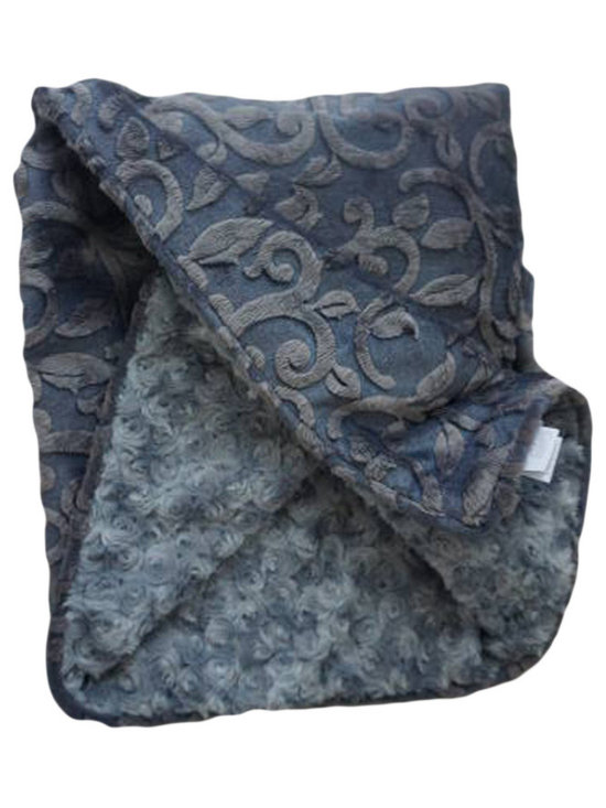 Belle & June - Baby Blanket, Grey Imprint - This throw blanket is supremely soft and cozy while its soft color scheme keeps it looking elegant and sophisticated in any nursery. Buy this blanket for your baby or give as a shower gift to expectant parents. They will be sure to love and cherish it.