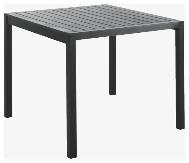 Belize Metal Black Square Garden Table HabitatUK Modern Garden Dining