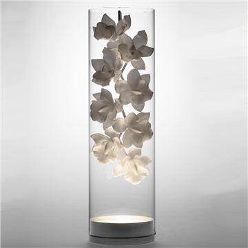 Jeremy Cole Cymbidium Glass Vessel Lamp asian-table-lamps