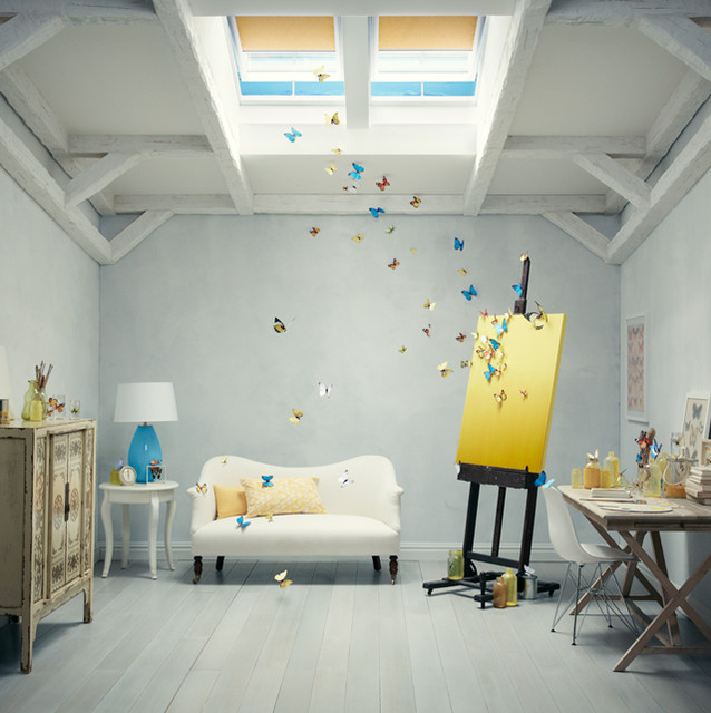 Artist studio contemporary charlotte by velux - Interior house painting charlotte nc ...