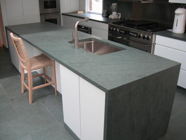 Kitchen Island Slate Countertop & Slate Flooring - Kitchen Countertops ...