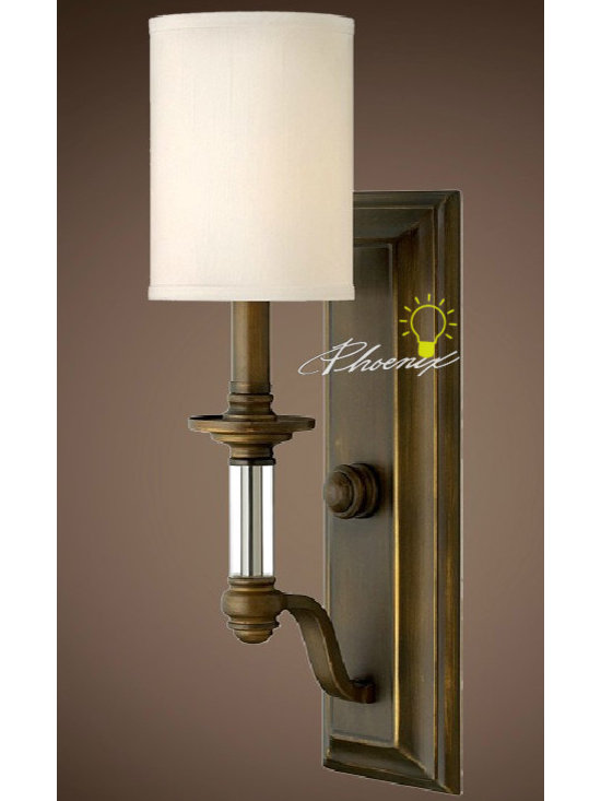 K9 Crystal-Cloth Wall Sconce - Size: L21cm X W15cm X H50cm