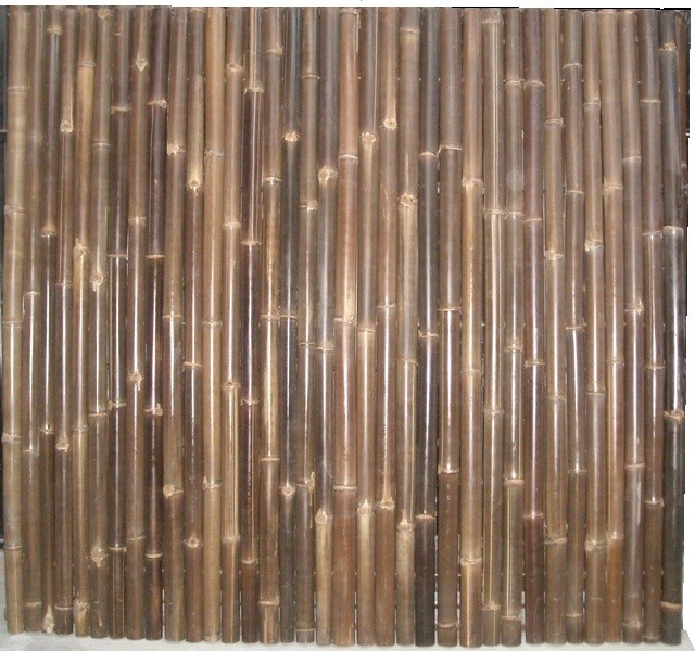 rolled black bamboo fence - Traditional - Home Fencing And Gates - other metro - by wijaya ...