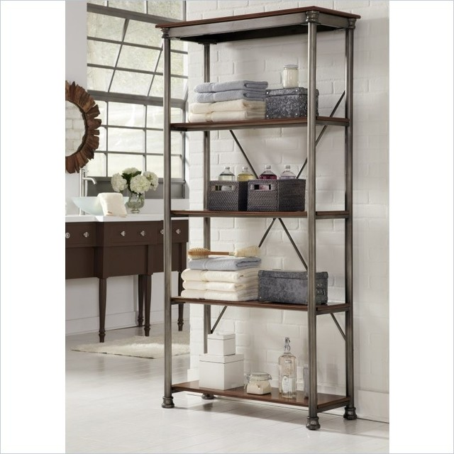 Home Styles The Orleans Three Multi-Function Shelves Etagere transitional-bookcases-cabinets-and-computer-armoires