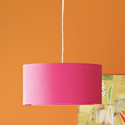 Kids Hot Pink Fabric Hanging Lamp modern chandeliers
