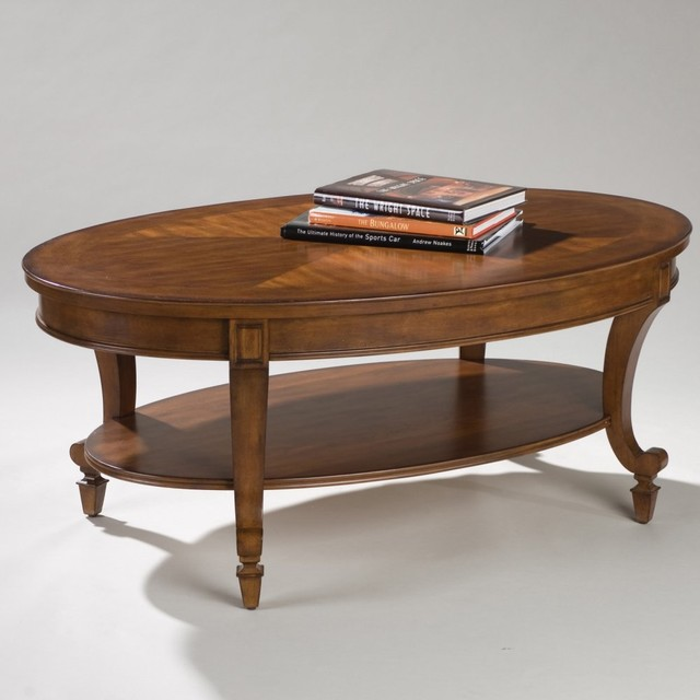 Wood Oval Coffee Table Traditional Coffee Tables By Hayneedle