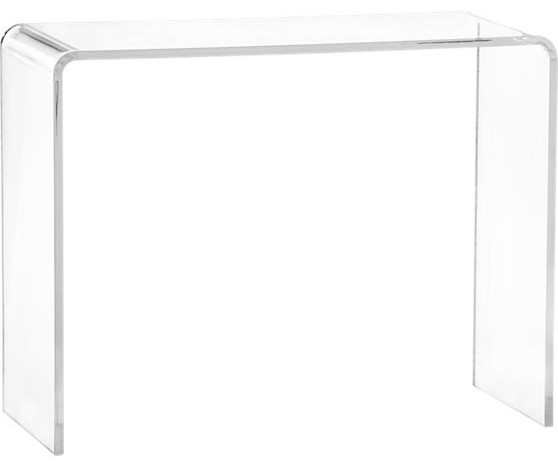 Peekaboo Clear Console modern side tables and accent tables
