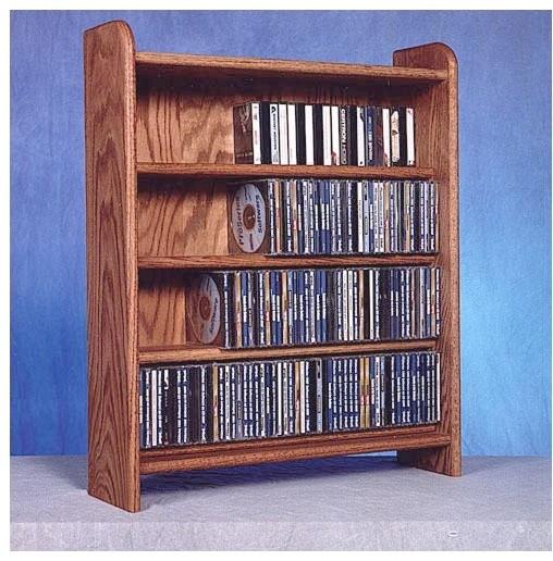 400 Series 220 CD Multimedia Storage Rack modern-wall-shelves