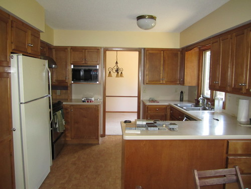 Kitchen renovation 1969 colonial to today 39 s standard for Kitchen remodel colonial home