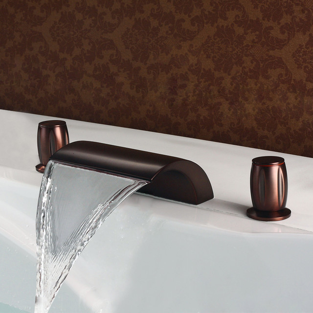 Victoria Waterfall Bathtub Faucet Oil Rubbed Bronze Contemporary Bathtub Faucets Other