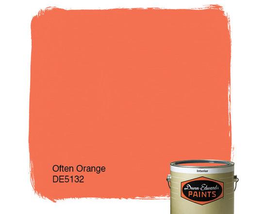 Dunn-Edwards Paints Often Orange DE5132 -