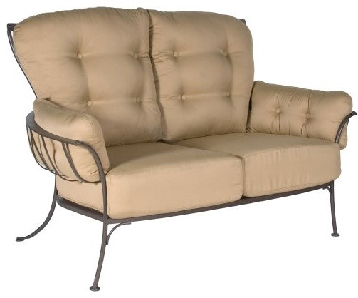 O W Lee Monterra Wrought Iron Loveseat Traditional Outdoor Sofas By Hayneedle