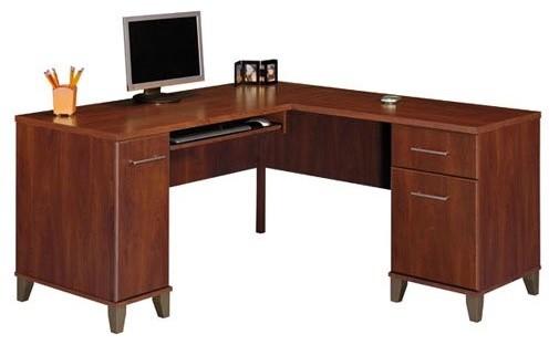 Bush Somerset L Shaped 60 Inch Computer Desk Multicolor