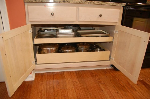 roll out pantry shelves with a center stile removal