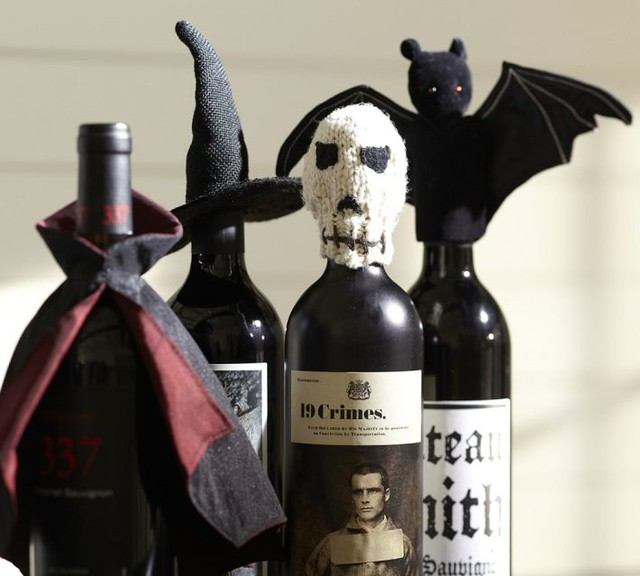 Dracula's Cape Bottle Topper - Contemporary - Holiday Decorations - by Pottery Barn