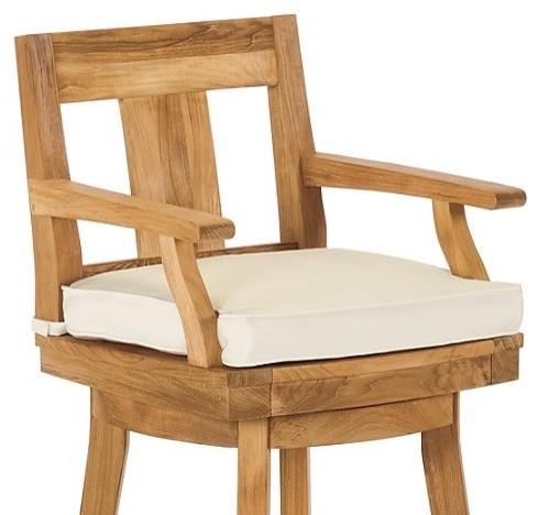 Melbourne Swivel Outdoor Bar Stool Cushion Patio Furniture Traditional O