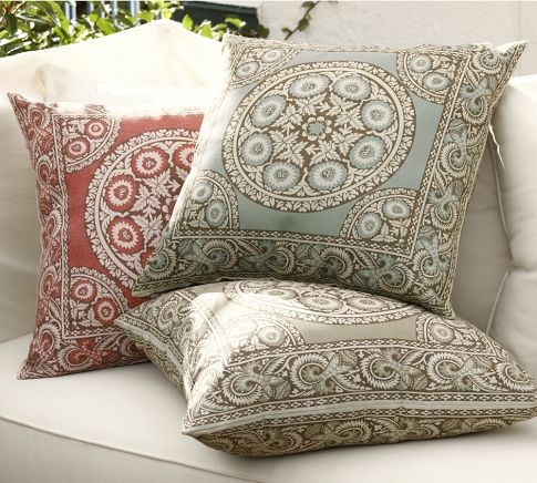 Elsa Mosaic Outdoor Pillow Mediterranean Outdoor
