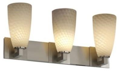Fusion Tall Cylinder Weave Shade Modular Bath Bar by Justice Design bathroom-accessories