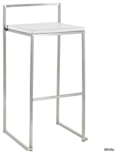 Genoa Bar Stool, Set of 2, White contemporary-bar-stools-and-counter-stools