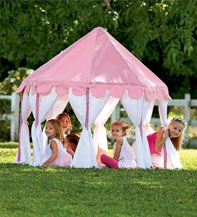 Pink Party Pavilion Play Tent contemporary-outdoor-playhouses
