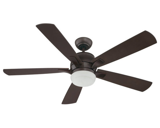 """Craftmade - Craftmade PU52OB5 Oiled Bronze Pulsar 52"""" 5 Blade Indoor Ceiling Fan - Features:Includes light kitIncludes remote and wall controlsSturdy blades will provide a lifetime of beautyLimited lifetime warrantyTrendy and effective, the Pulsar Indoor Ceiling Fan is a fantastic way to accent your style and add something functional for those hot summer daysIncludes 4"""" downrod for ease of installationSuitable for dry locationsBlade Specifications:Number of Blades: 5Blade Span: 52Blades Included: YesBlade Pitch: 14 Degrees (The Angle of Attack of the Blades; Steeper Blades Move More Air)Light Kit Specifications:Light Kit Included: YesNumber of Bulbs: 3Watts Per Bulb: 40Light Direction: Down LightingAir Flow Specifications:Motor Size: 172mm x 17mmSpeeds: 3CFM (High): 5276 (The volume of air moved by the fan in cubic feet per minute)Airflow Efficiency: 70 Cubic Feet Per Watt on High (Volume of Air Moved Per Watt of Energy Used)Other Product Specifications:Control Type: Remote Control (Included)Downrod(s) Included: YesDownrod Size(s): 4"""""""