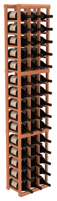 3 Column Magnum/Champagne Wine Kit in Redwood, (Unstained) Redwood contemporary-wine-racks