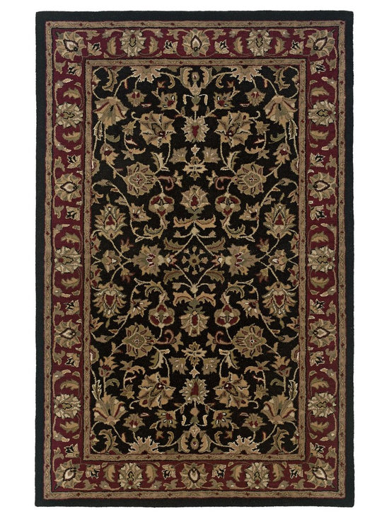 Rizzy Home Volare Black Wool Blend VO0821 Rug - Everything from strictly traditional to absolutely contemporary, the Volare collection is an assortment of rugs that can satisfy every aspect of modern interior design