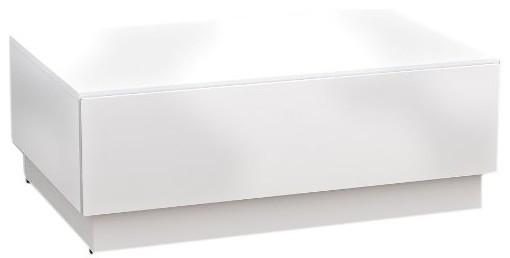 Nexera 221703 Blvd Coffee Table with Hidden Storage, White contemporary-coffee-tables