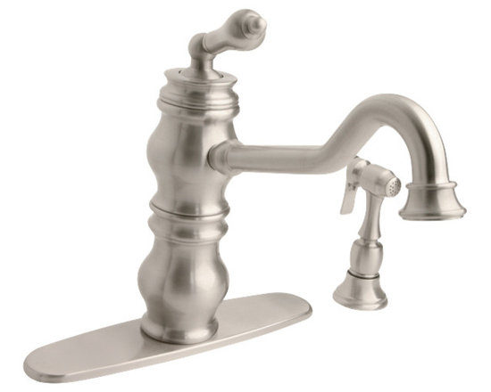 Giagni Giardino GK101 Single Lever Kitchen Faucet with Spray - The Giardino faucet is a beautifully sculpted timeless piece that will instantly bring a sense of tradition into any kitchen. Use with the side spray included to maximize function. Available in a variety of finishes to compliment any decor.