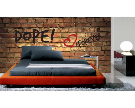 Writable wall decals - This is not your standard brick wall! This high resolution print of exposed bricks is actually a removable wall mural. It has a whiteboard finish so you can write and erase on it as many times as you wish. It is fully customizable so it fits the space perfectly. Starts at $45.