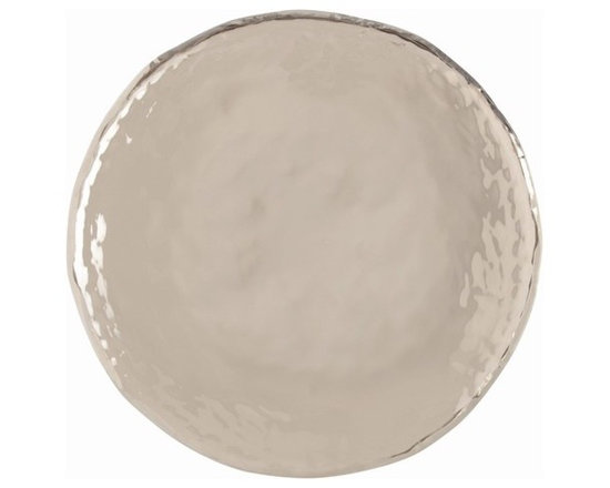 Arteriors Sofia Large Polished Nickel Tray - Sofia Large Polished Nickel Tray